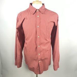 GAP Factory Store Mens Plaid Button Front Shirt